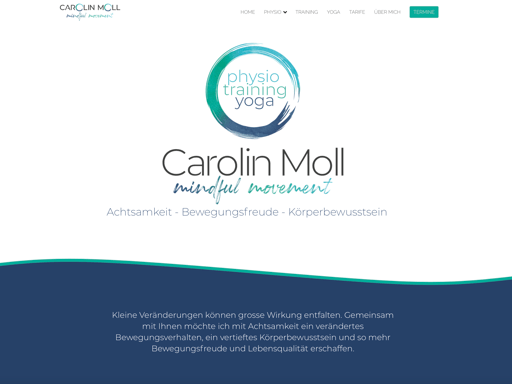 Screenshot der Webseite www.carolin-moll.ch